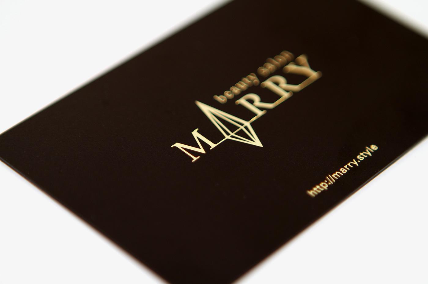 美容室マーリー会員カードデザイン