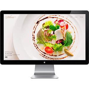 ラトリエブラン[飲食店] ホームページ制作