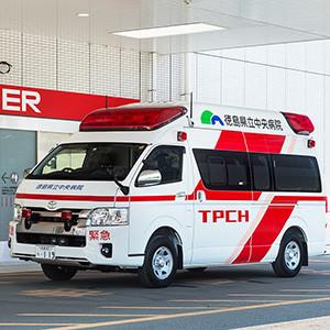 徳島県立中央病院 車両ラッピングデザイン