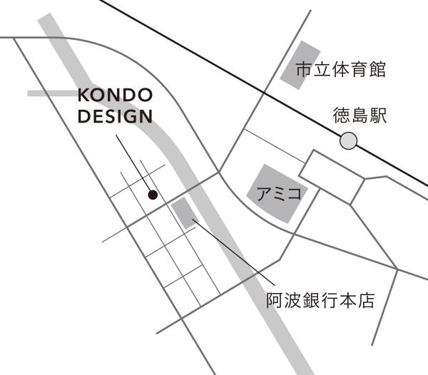 近藤デザイン事務所アクセスマップ